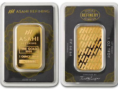 Asahi One Ounce Gold Bar