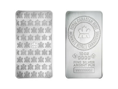10 Ounce Royal Canadian Mint Silver Bar