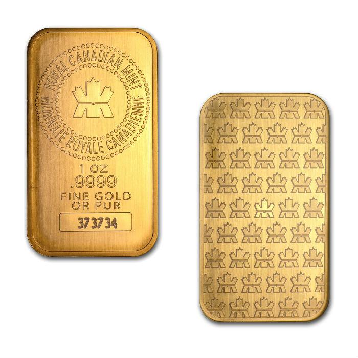 Royal Canadian Mint 1 Ounce Gold Bar
