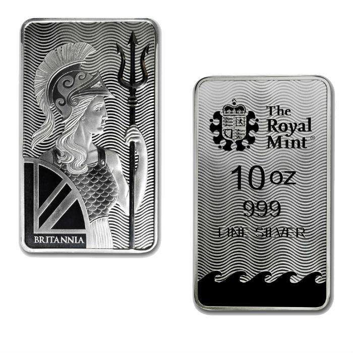 10 Ounce British Britannia Silver Bar