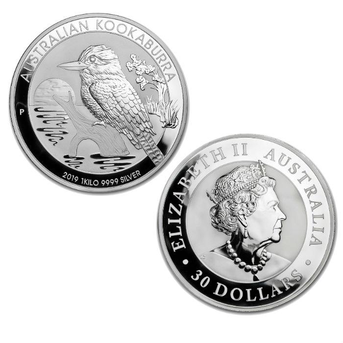 2019 Australian Kookaburra 1 Kilogram Silver Bullion Coin