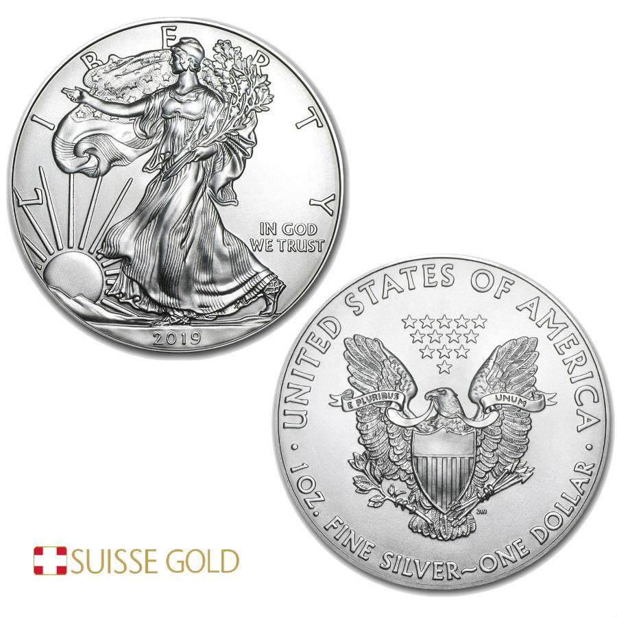 1 Unze 2019 American Eagle Silbermünze