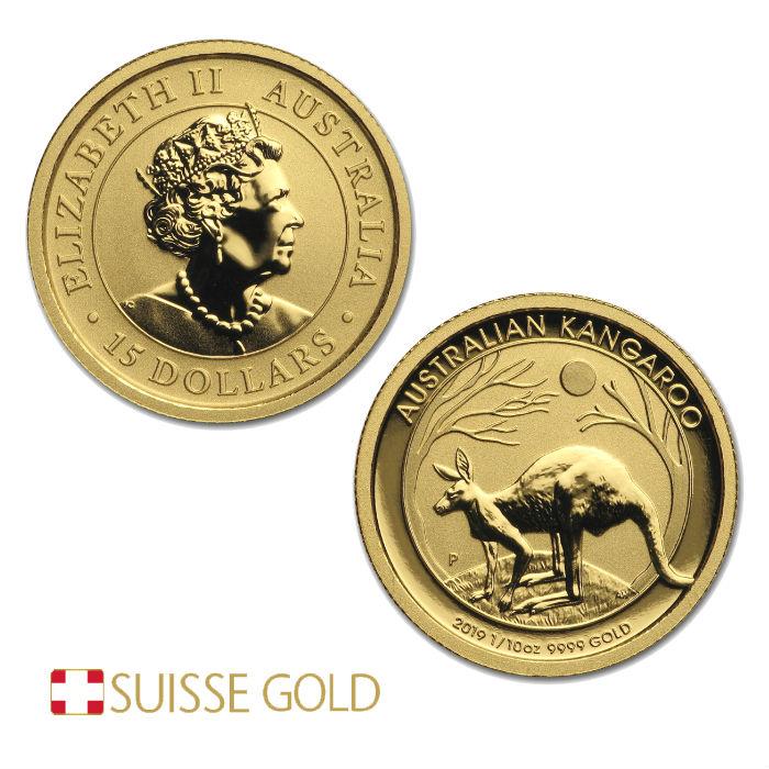 2019 Australian Kangaroo 1/10 Ounce Gold Coin