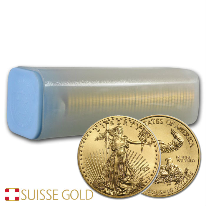 Tube Of 40 X 2019 1 4 Oz American Eagle Gold Coin