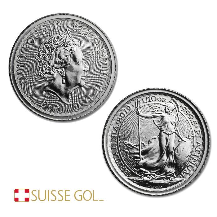 2019 1//10 Oz British Platinum Britannia Coin