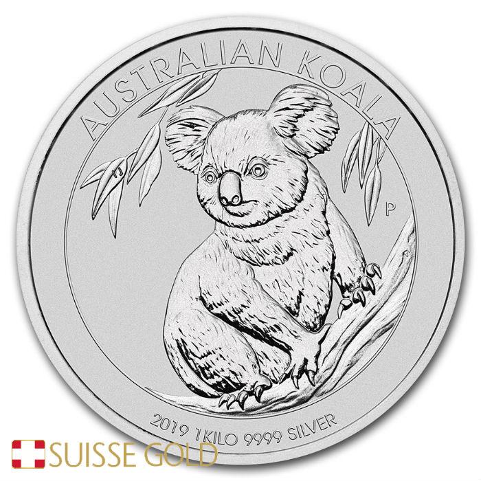 2019 Australian Koala 1 Kilogram Silver Bullion Coin 999 Fine