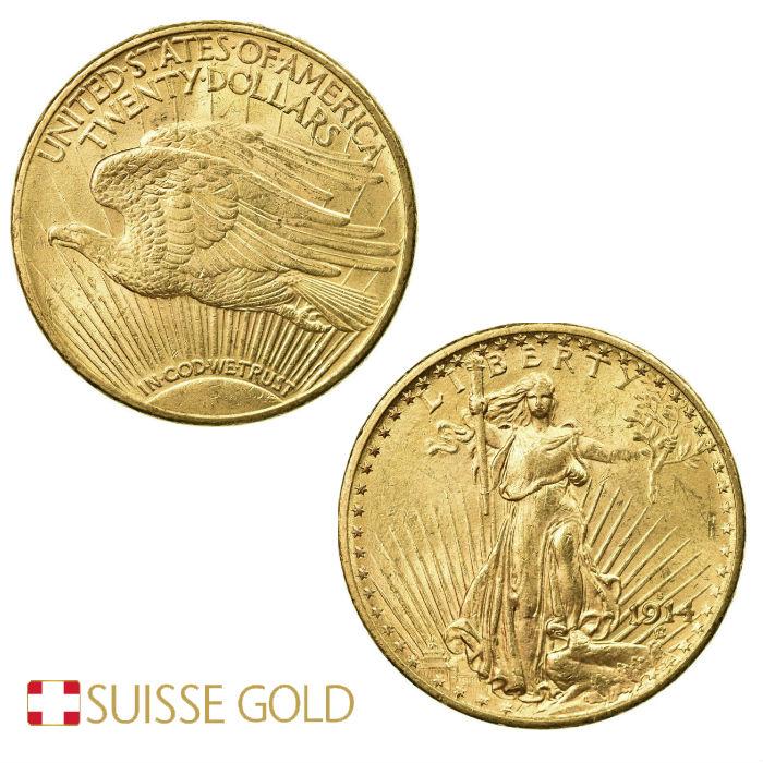 American Double Eagle Saint Gauden Gold Coin