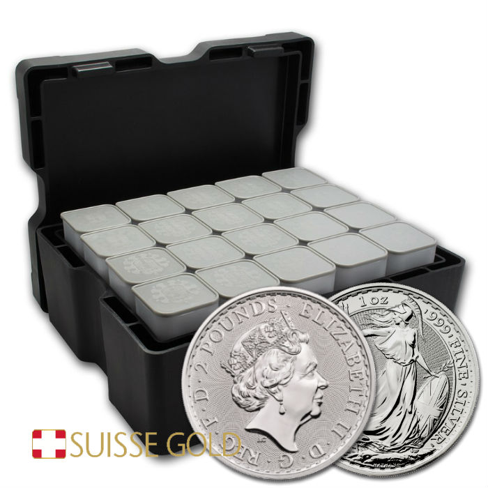 2020 1 Ounce Silver Britannia Monster Box