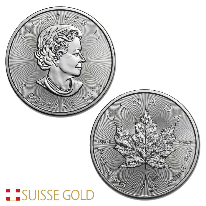 1 Ounce Canadian Maple Leaf Silver Coin
