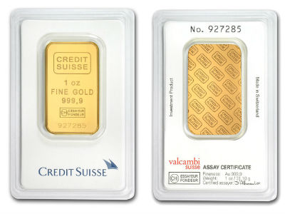 Credit Suisse 1 Ounce Gold Bar