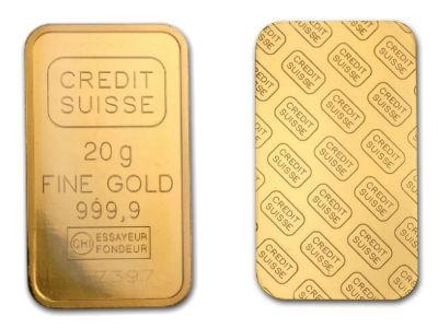Credit Suisse 20 Gram Gold Bar
